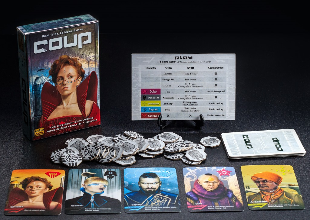 Coup Card Game Tabletop Layout
