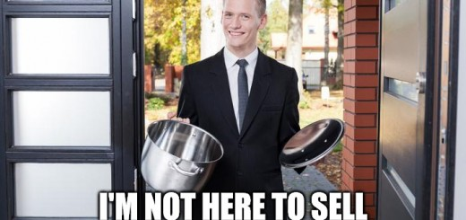 Door to Door Salesman with Pot Meme