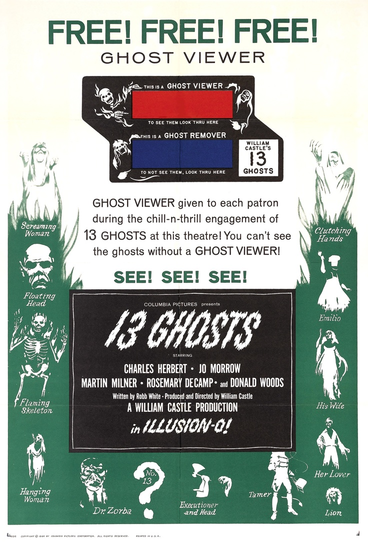 13 Ghosts Ghost Viewer Glasses
