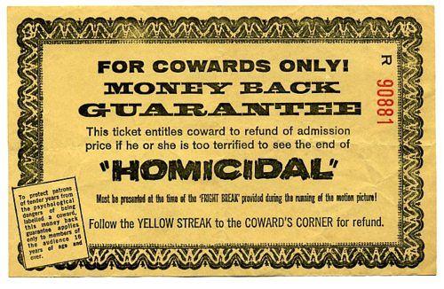 Homicidal Cowards Guarantee