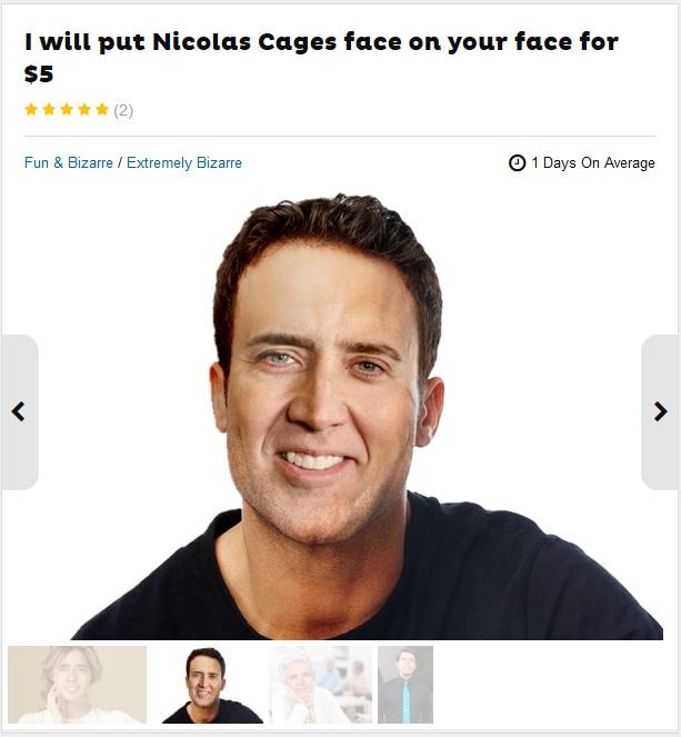 Fiverr Nicolas Cage Face