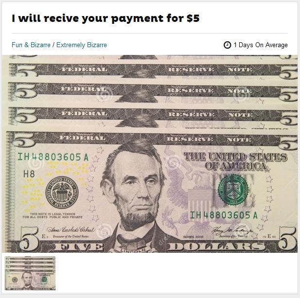 Fiverr Send Me Money