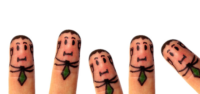 Finger men covering their ears - copywriting mistakes in tech and software sales